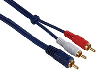 CABLE AUDIO - RCA MALE VERS 2 x RCA MALE, 1.2m