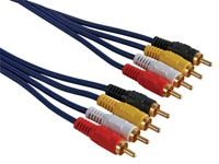 CABLE AUDIO - 4 x RCA MALE VERS 4 x RCA MALE, 1.2m
