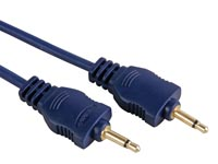 CABLE AUDIO - JACK MONO MALE 3.5mm VERS JACK MONO MALE 3.5mm, 1.2m