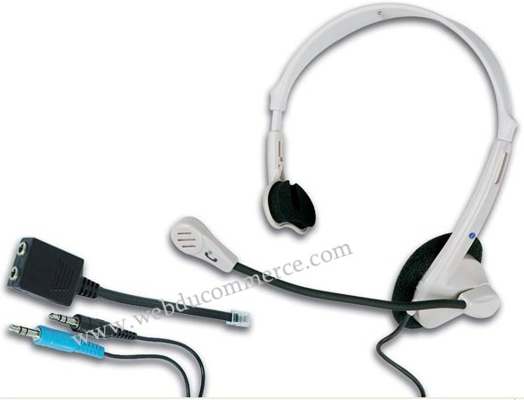 CASQUE POUR TELEPHONE & APPLICATIONS MULTIMEDIA + MICROPHONE