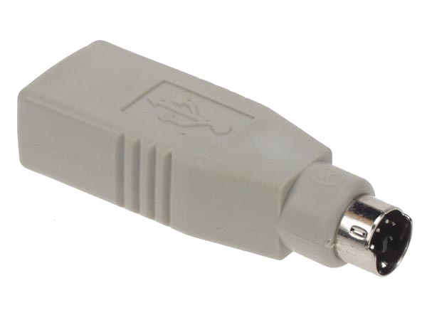 ADAPTATEUR USB - PS2 MALE VERS USB A FEMELLE