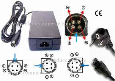 Alimentation  12V 4.5A 54W avec 4 broches