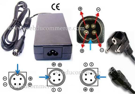 Alimentation 4 broches 12V 5A