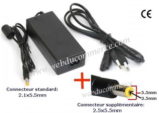 Alimentation pc portable 18.5V  6.5A  120W