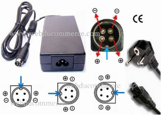 Alimentation chargeur 4 broches 19Volt 5.26A  100Watt