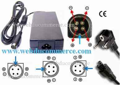 Alimentation 20V 3.75A 75W 4 broches