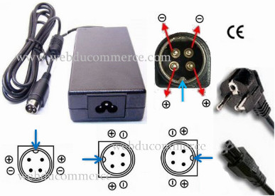 Alimentation Chargeur 4 broches  24Volt 6A dc 144 Watt