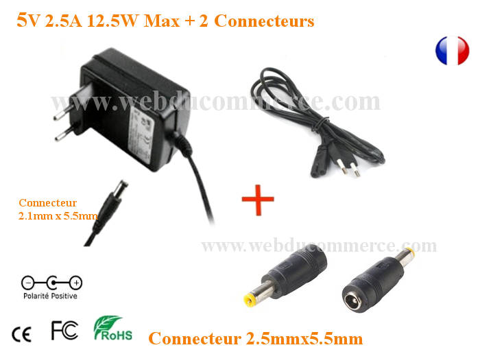 Alimentation Chargeur 5V 2.5A 12.5W