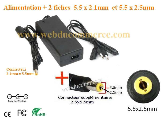 Adaptateur alimentation  | 12V 8.33A 100 Watts + embout 5.5 x 2.5 mm