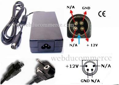 Alimentation 12V 4pin 2A 24W