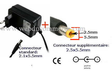 Alimentation Orange Livebox Sagem 12V 2A 24W