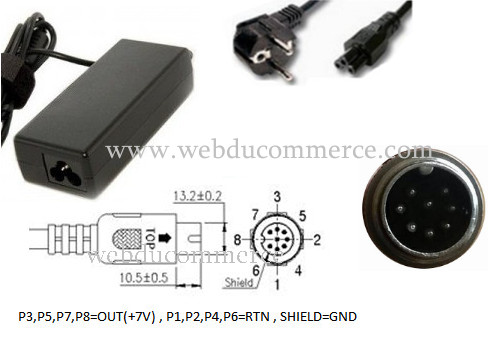 Alimentation 8 pin 6-8V 42W 7V 6A