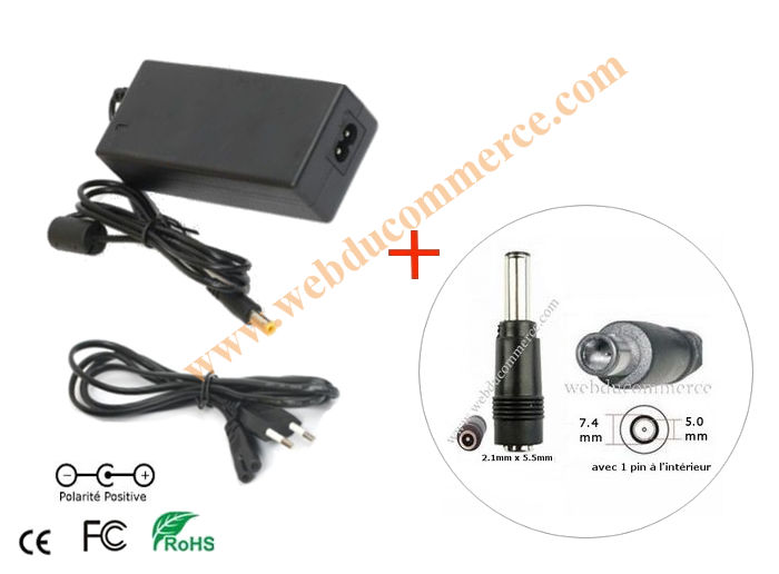 Bloc alimentation  | 18.5V 3.78A 70Watt+ connecteur 7.4 x 5.0  mm