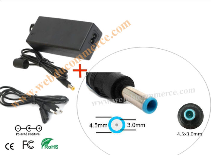 Chargeur alimentation  | 19V 4.2A 80W+ fiche 4.5 x 3.0  mm