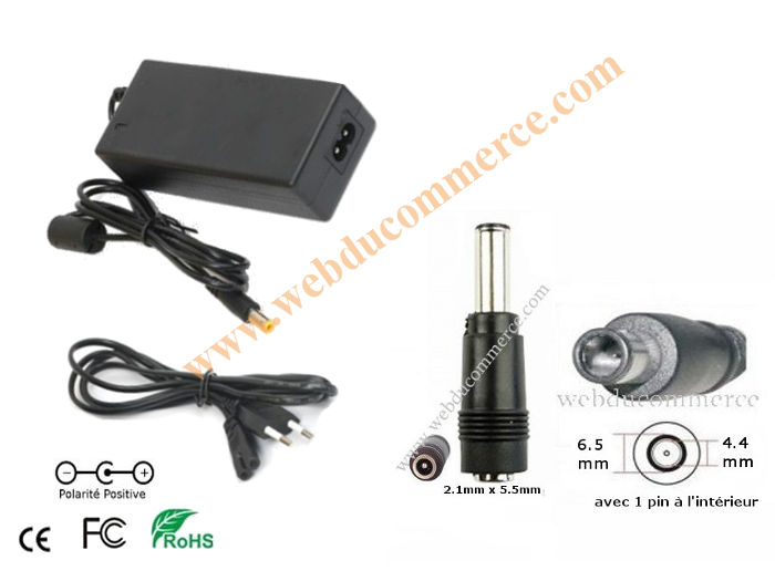 Chargeur alimentation  | 24V 4A 96 Watts + fiche 6.5 x 4.4 mm