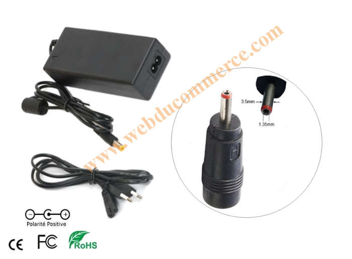 Chargeur alimentation  | 15V 5A 75W + embout 3.5 x 1.35 mm