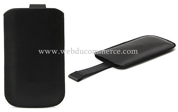 Etui de protection en cuir PU avec pull-up sangle pour iPhone 4, 4s, 3g et 3gs.