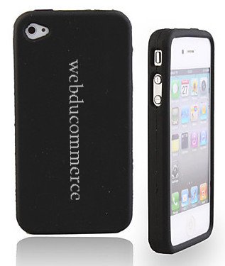 Etui de protection noir pour iphone4