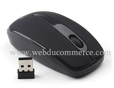 Souris mini USB sans fil  Wireless Optical Mouse (portée sans fil: 10 mètres)