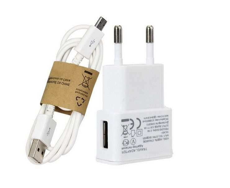 Kit Chargeur USB 5V 2.0A max +Cable micro USB Samsung