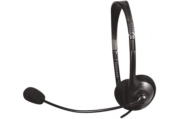 DACOMEX • CASQUE STEREO + MICRO NOIR<br>Réf : 059210