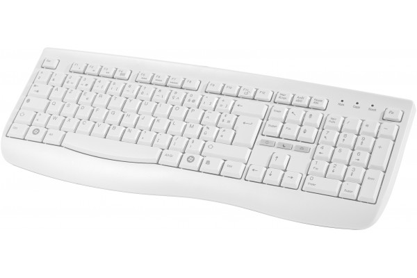 CLAVIER SLIM 108 TOUCHES PS/2 BLANC