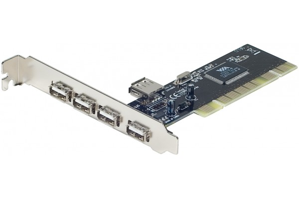 CARTE PCI 4 PORTS USB 2.0 4 EXT+1 INTER<br>Réf : 921970