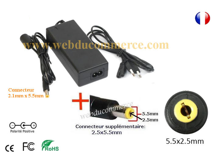 Chargeur portable Dell x166m | 15V 3A 45W