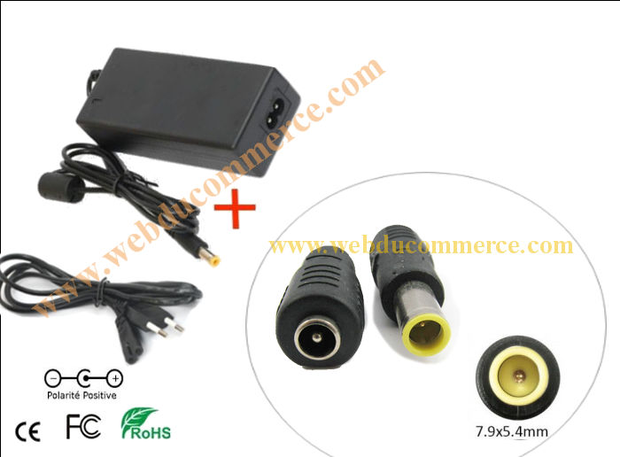 Chargeur portable lenovo thinkpad t400 | 20V 3.25A 65W